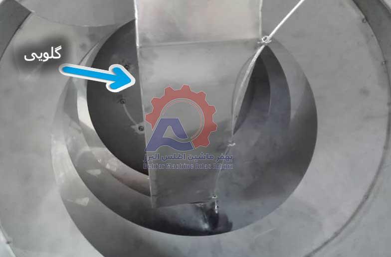 گلویی دستگاه تفت آجیل و خشکبار-عکس محصول
