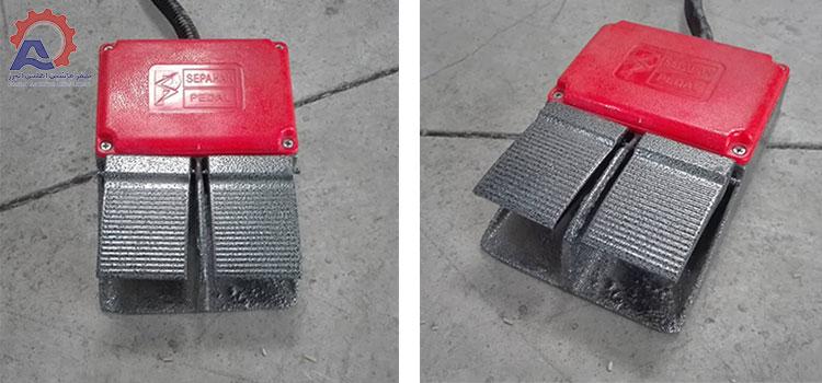 دو پدال دستگاه کیسه پر کن دو توزین -عکس محصول