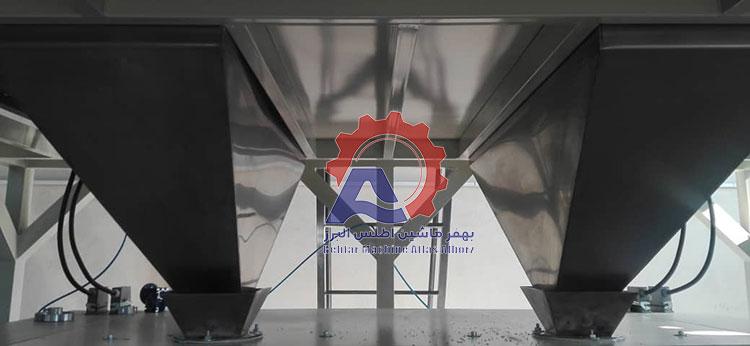 دو مخزن مجزا در معرفی دستگاه بسته بندی 12 توزین موازی