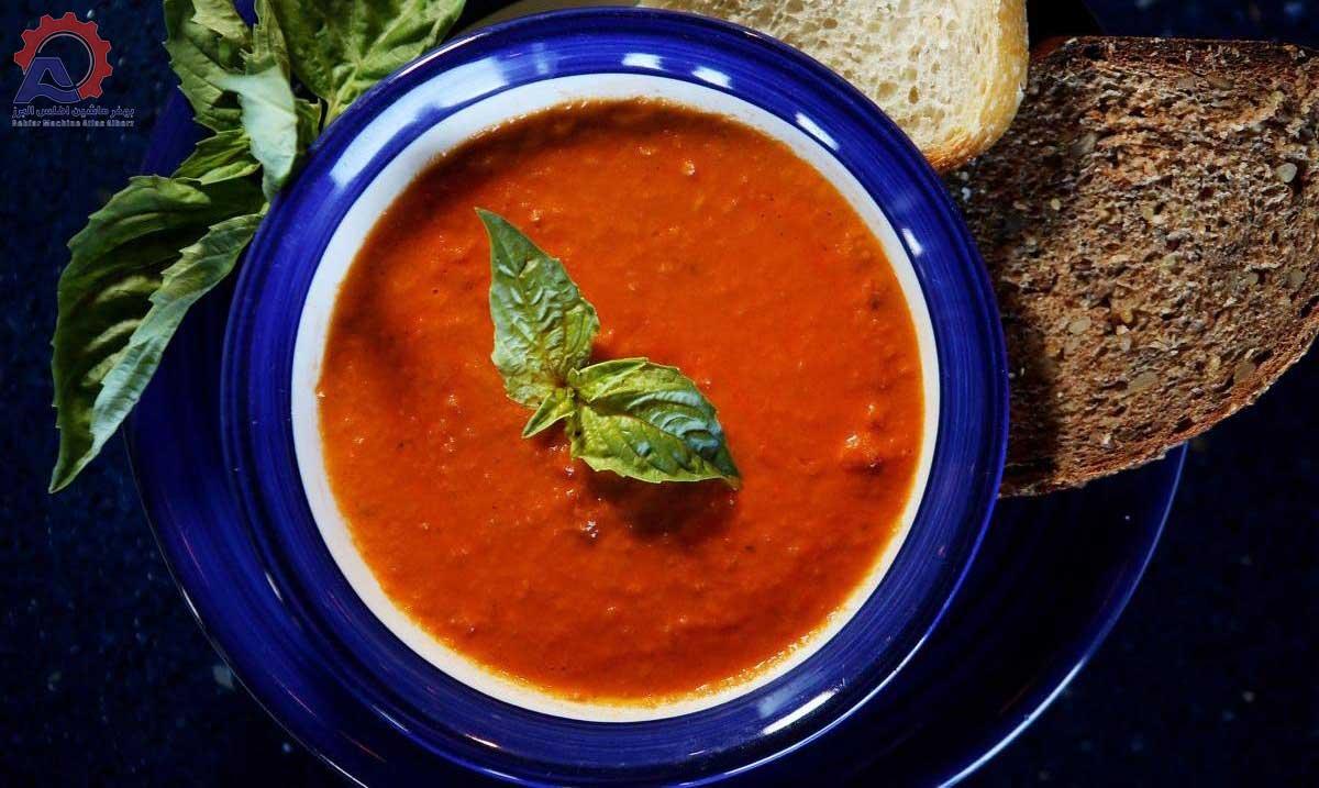 سوپ گوجه-مقاله خرد کن گوجه خشک شده