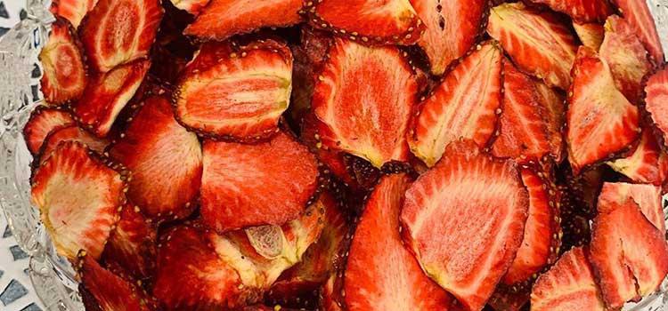 توت فرنگی خشک شده در مقاله دستگاه خشک میوه توت فرنگی